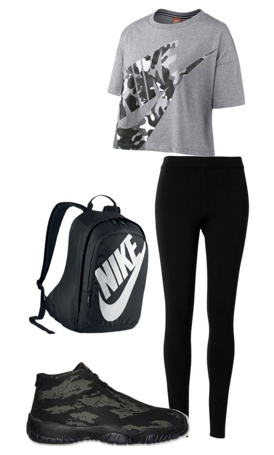 """""""simple"""" by tswaggerlady ❤ liked on Polyvore featuring NIKE and Max Studio"""