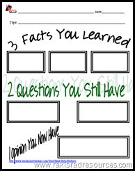 3-2-1sheet - build independence while using videos or websites....