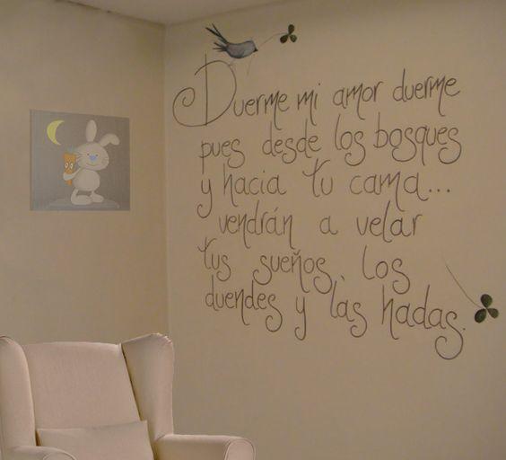 Bonita frase para el cuarto de un ni o frases para - Habitacion para tres ninos ...