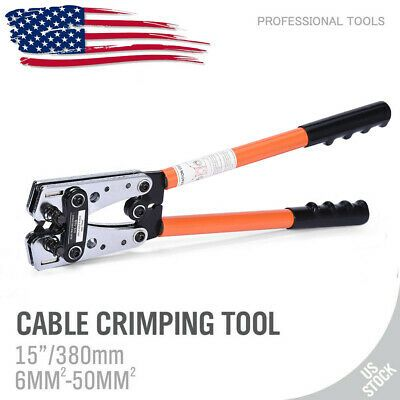Details About New Wire Terminal Crimping Tool 6 50mm Cable Lug Crimper Cu Al Terminal Plier Crimping Tool Electrical Tools Crimper