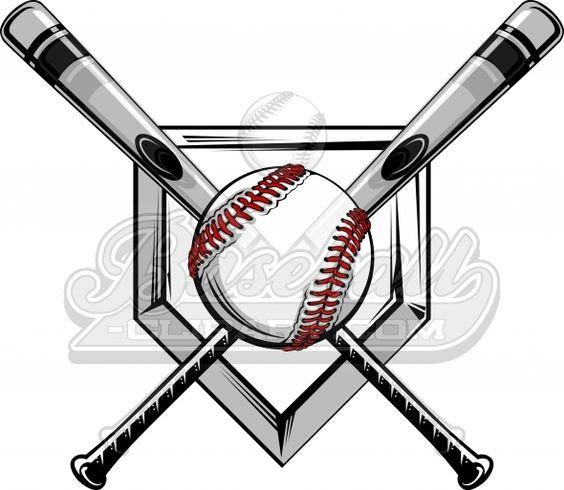 Crossed Baseball Bats Logo. Baseball Bats Image with Baseball ...