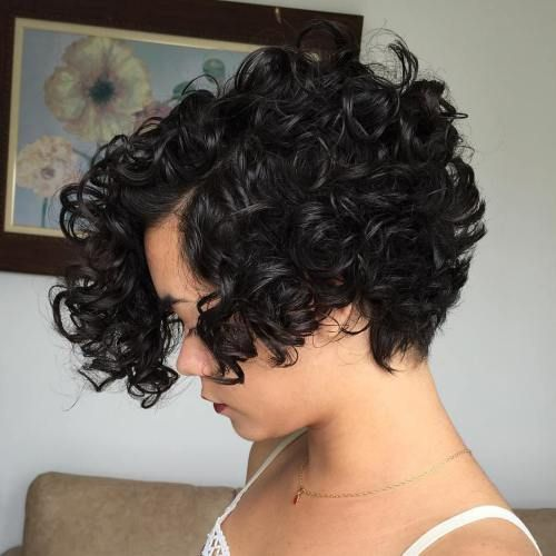 Image Result For Short Asymmetrical Stacked Bob For Natural Curly