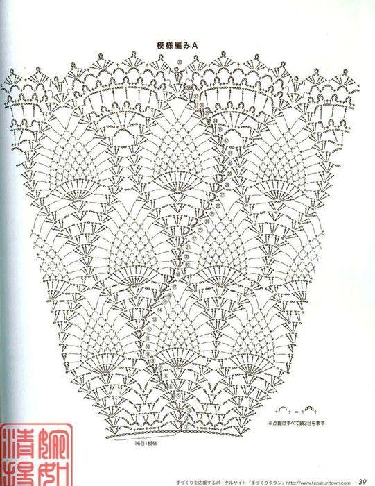 Pattern diagram instructions #1 Mais | Ganchillo | Pinterest ...