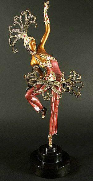 Erté - Statuette 'Danseuse Orientale'