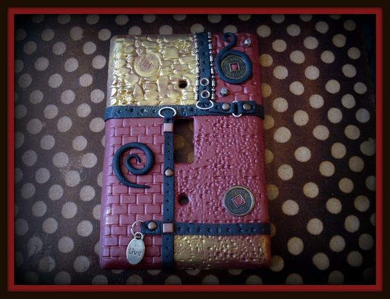 * polymer clay jewelry tutorial pendant/brooch/barrette. Not lightswitch