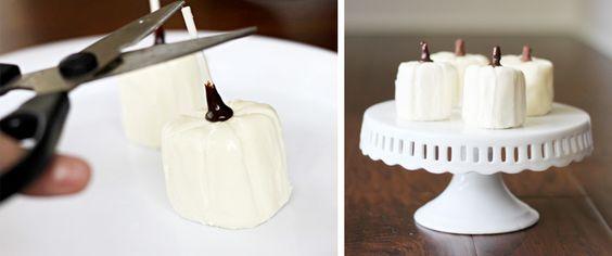 Marshmallow Pumpkins DIY for Thanksgiving!
