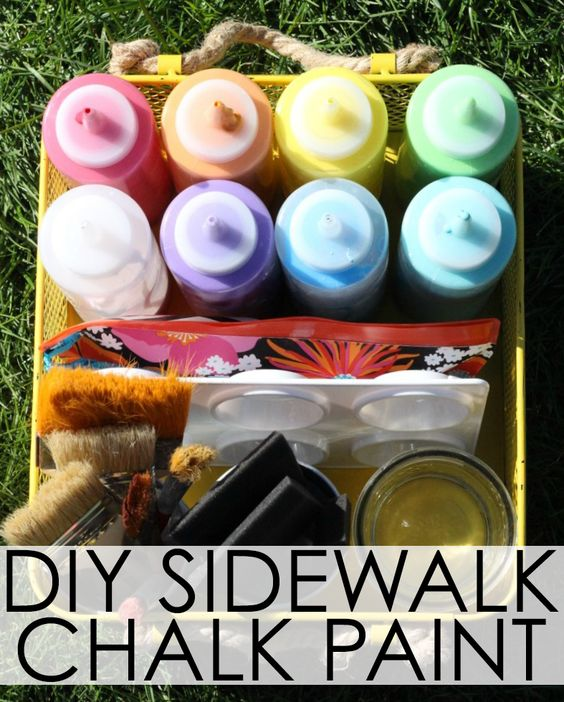 Diy Sidewalk Chalk Paint Activities Sidewalk Chalk