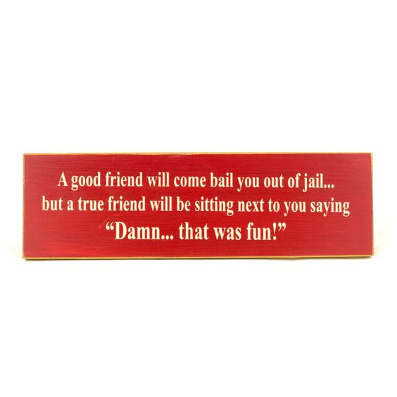 "The Sign Farm ""A Good Friend"" Wood Sign"