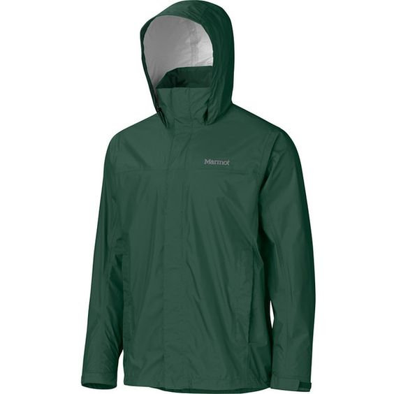 Marmot PreCip Jacket ($75) ❤ liked on Polyvore featuring men's fashion, men's clothing, men's outerwear, men's jackets, mens waterproof jacket, mens outerwear, mens jackets, marmot mens jacket and mens soft shell jacket