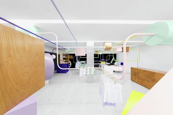 Construído na 2015 na Monterrey, México. Imagens do Estudio Tampiquito. Kindo é uma boutique exclusiva de roupa e acessórios para crianças localizada em San Pedro Garza Garcia, Monterrey, México. Nosso objetivo era criar...