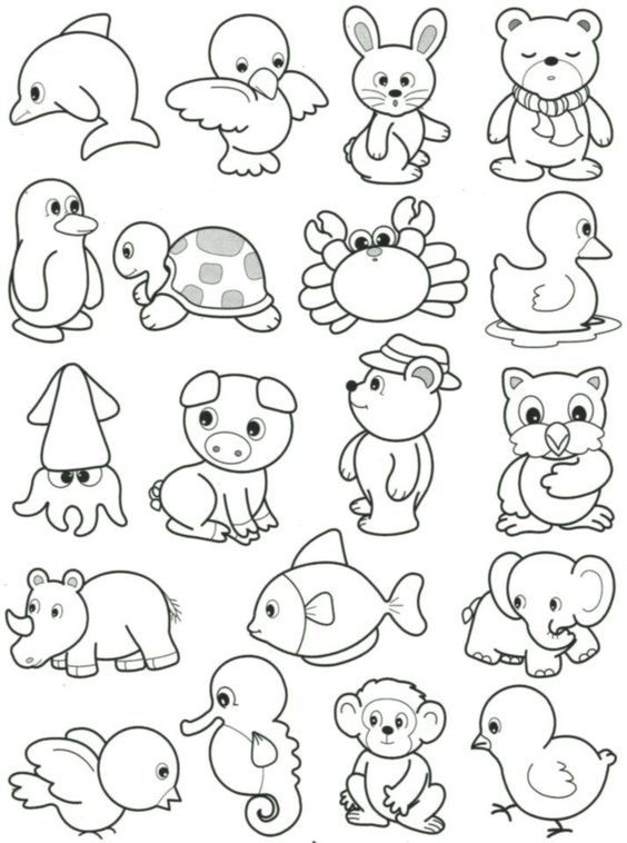 Pin By Btl On Hayvanboyama Animal Drawings Animal Coloring Pages Art Drawings For Kids