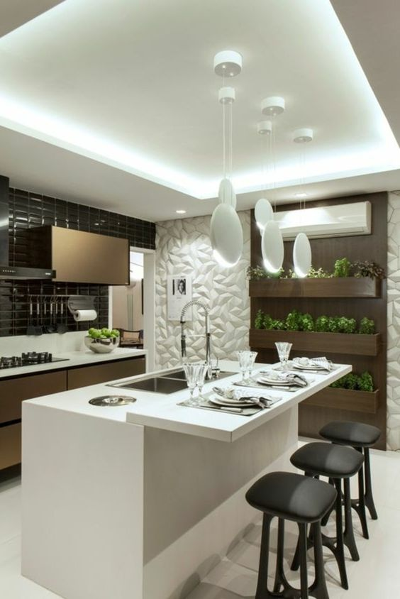offene küche wohnzimmer abtrennen offene küche mit theke spiegel - offene küche wohnzimmer trennen
