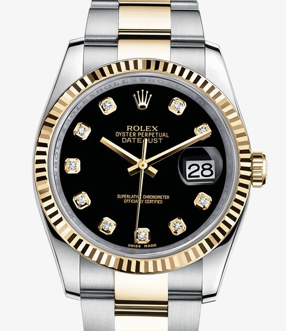Rolex Datejust Watch: Yellow Rolesor - combination of 904L steel and 18 ct yellow gold - 116233