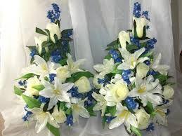 blue flowers arrangements - Google Search