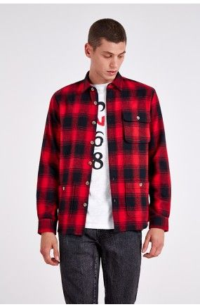 HYMN Hawen Brushed Cotton Heavy Check Overshirt