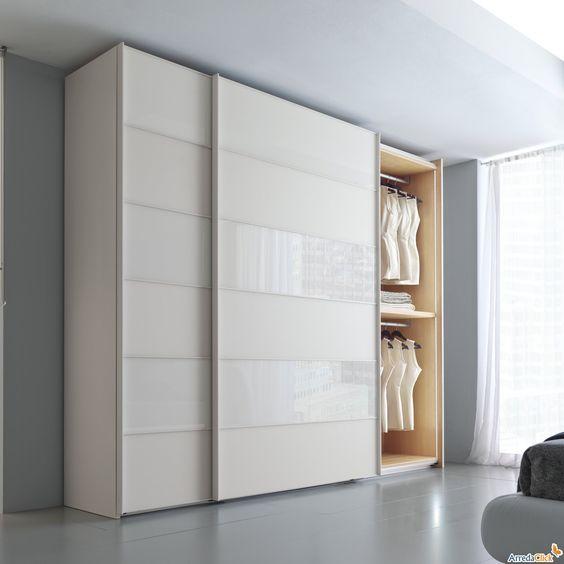 Este armario blanco est nel dormitorio sirve para for Closet blanco pequeno