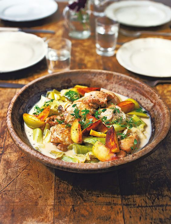 Diana Henry's simple chicken recipe is the ultimate comfort food made with cider, thyme and double cream.