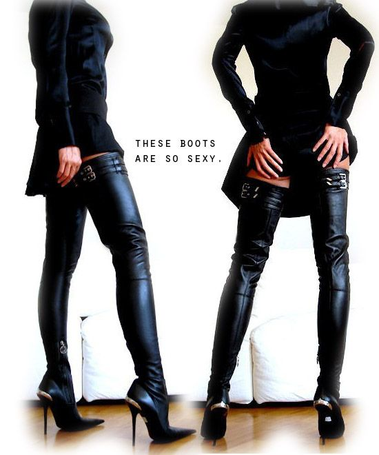 Sexy Thigh High Boots-damn you can wear these as pants.. i wonder ...