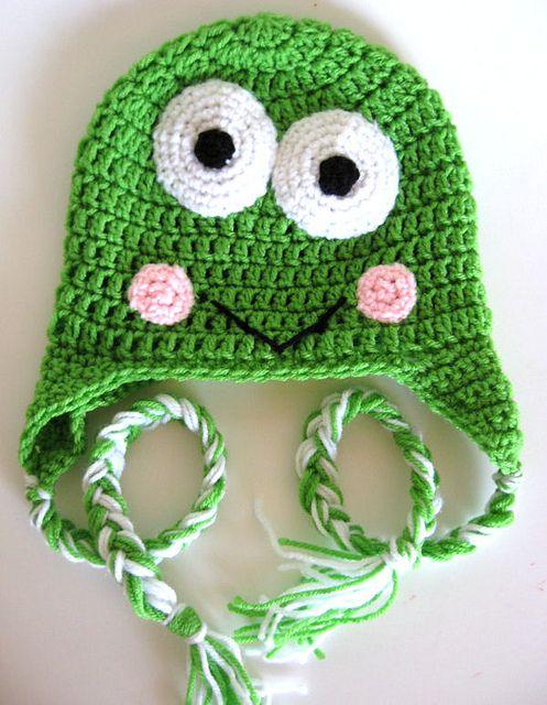 frog ear flap hat Tejido Pinterest Dr. who, Crochet ...
