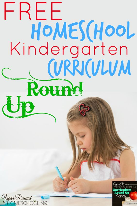 Free Homeschool Kindergarten Curriculum Round Up - http://www.yearroundhomeschooling.com/free-homeschool-kindergarten-curriculum-round/