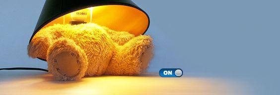 A teddy bear lamp!