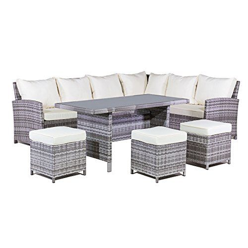 Mmt Rattan Garden Furniture L Shaped Dining Corner Set Https Www Amazon Co Rattan Corner Sofa Rattan Garden Corner Sofa Rattan Furniture Set