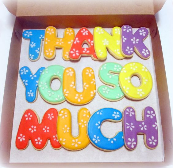 Thank You cookies: