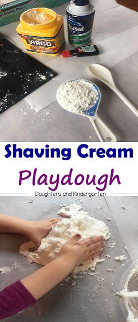 Shaving cream playdogh   preschool crafts   fun for kids