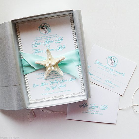 Unique Beach Wedding Invitations, Beach Wedding Invitation