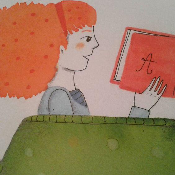Lecturas de viernes por la tarde  #books #reading #illustration #JulyMacuada