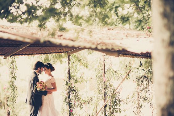 Beautiful outdoor wedding #rustic #reception #inspiration