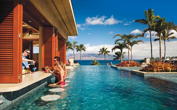 """The Four Seasons Resort Maui at Wailea received nothing but praise from T+L readers, who gushed over everything from the """"gorgeous ocean view"""" to the """"great tennis teacher and facilities."""" The resort scored 92.245 and was especially popular for honeymoons and anniversaries."""