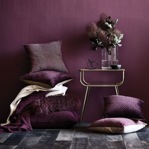 If you don't fancy going all out with the Pantone Colour of the Year 2018, then perhaps opt for some Ultra Violet accessories instead. Add some deep purple throws and cushions to your interiors for an attractive on-trend look.  Buy Now: Plum Accessories, from £14.50, Sheridan Australia