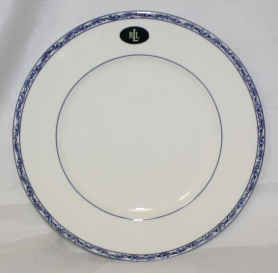 """RALPH LAUREN MANDARIN BLUE CHINA DINNER PLATE BEAUTIFUL  NEW 10.75"""""""