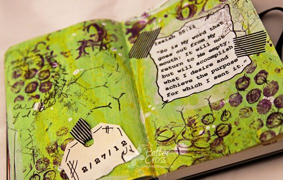 Triple the Scraps: Art {Journaling} Tiny Pages