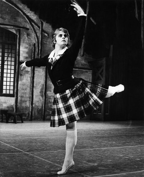 Over the years National Ballet audiences have seen definitive interpretations in the leading role of James by many leading men including Mikhail Baryshinkov.    Mikhail Baryshnikov. Photo by Martha Swope.