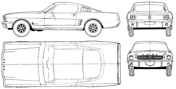 mustang ford 65 blueprint