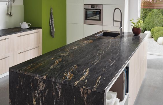 Lechner Küchenarbeitsplatten Design Black Cosmic