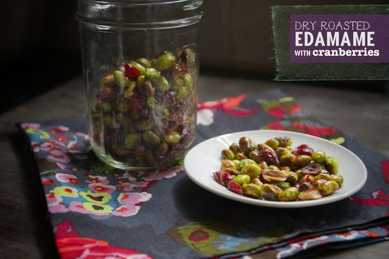 Dry Roasted Edamame & Cranberries - perfect snack