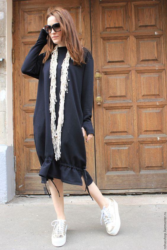 Купить Платье Lifelong Love - черный, платье, длинное платье, платье на завязках, платье балон