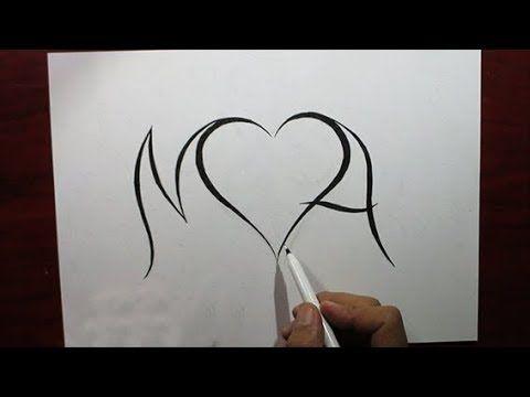 رسم حرفي M و A يجمعهما قلب A Literal Drawing Of M And A Combined By A Heart Youtube Home Decor Decals Drawings Decor