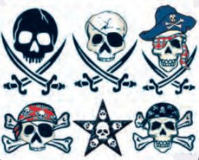 Pirate Skulls 2 Tattoos
