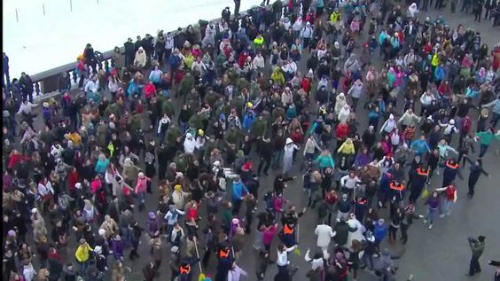 Flash mob in Moscow, Russia 26.02.12