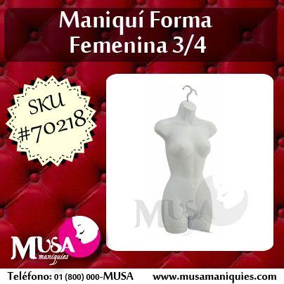 #Maniquí para exhibir prendas #femeninas con gancho incluido: http://ow.ly/zBiPB