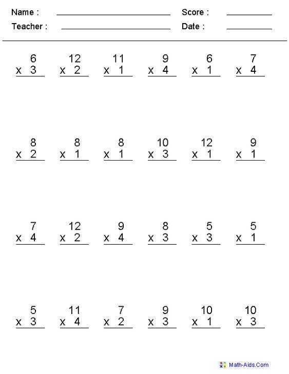 math worksheet : multiplication problems between 0 12 worksheets  education  : 0 12 Multiplication Worksheets