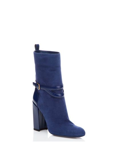 Yves Saint Laurent 'Chyc' Mid-Shaft Suede Boot