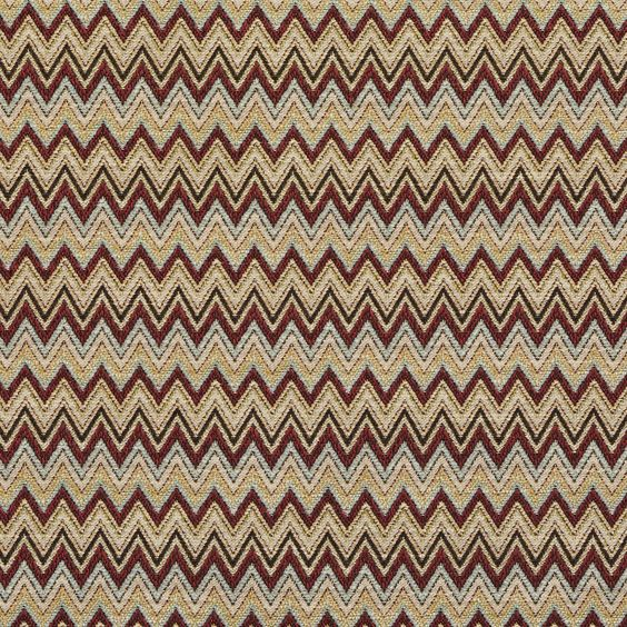 Red, Green, Blue, And Gold Chevron Woven Upholstery Fabric By The ...