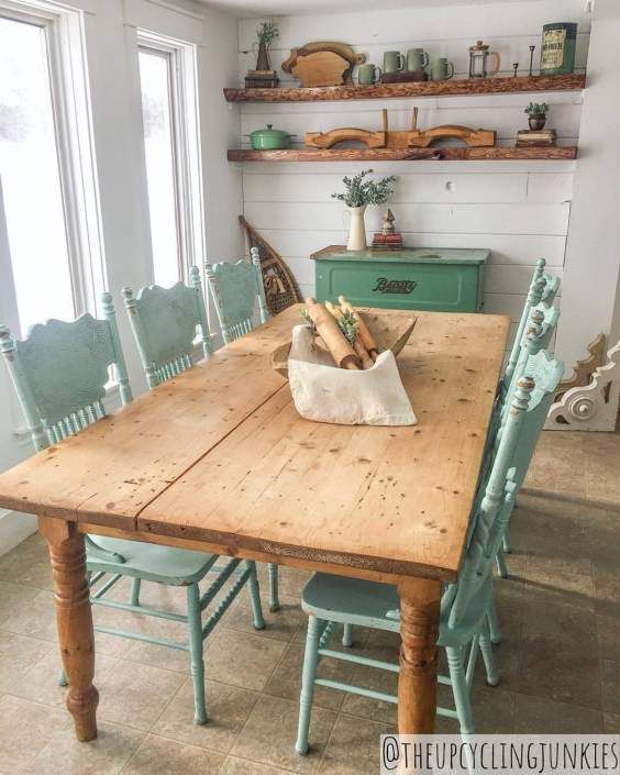 Diy Shabby Chic Update To Your Furniture Is All You Need To Liven Up Your Room In 2020 Rustic Kitchen Farmhouse Dining Farmhouse Dining Room