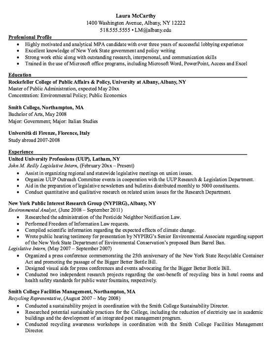 Environmental Analyst Resume Sample -    resumesdesign - public relations intern resume