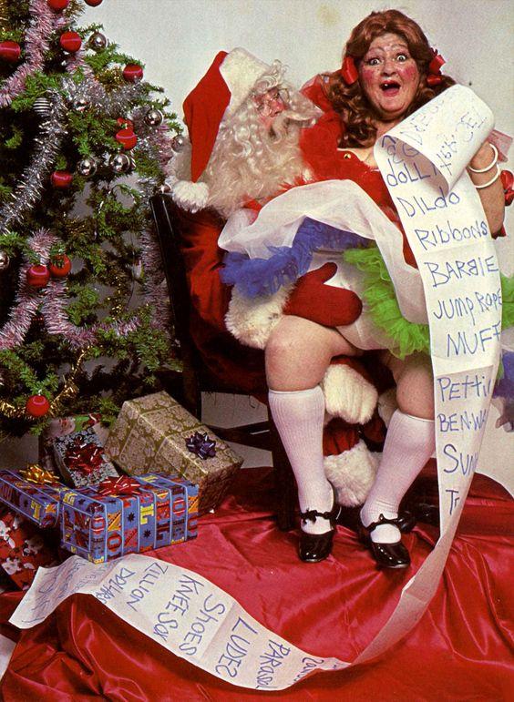 Give it to me, Santa! Model: Edith Massey #Christmas